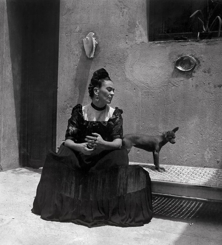 Frida Kahlo, by Lola Álvarez Bravo, ca. 1944 © Frida Kahlo Museum