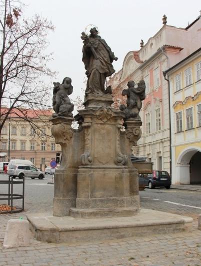 Sv. Jan Nepomucký na Pohořelci. Stav po restaurování – celek