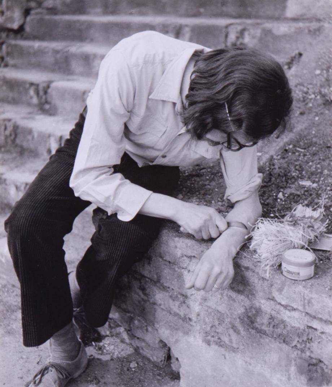 Petr Štembera, Štěpování, 1975, fotografie, papír, 23,3×17,2 cm