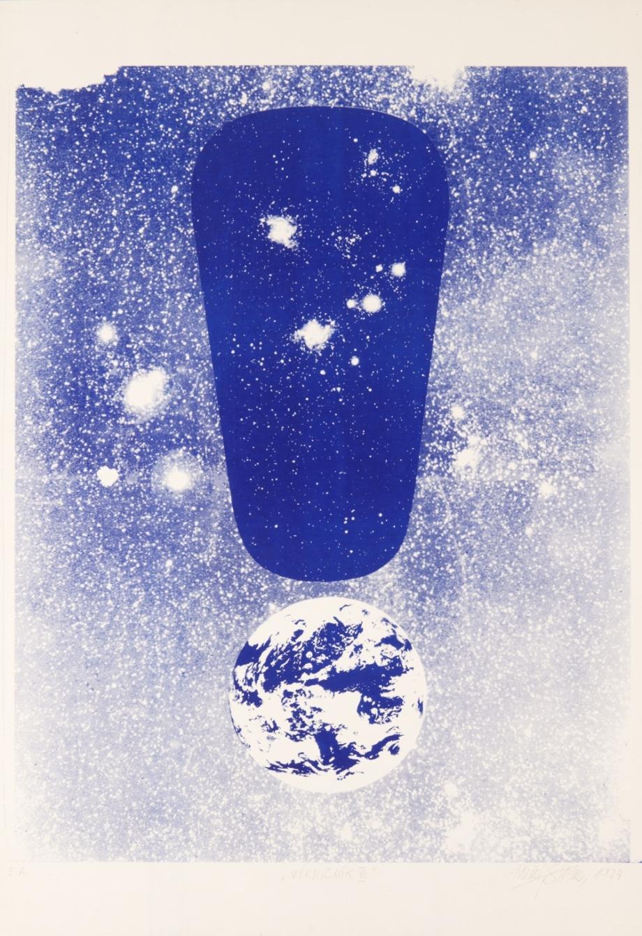 Rudolf Sikora, Vykřičník VI., 1974, serigrafie, papír, 69,7×46,5 cm