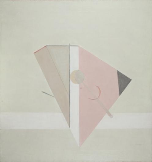 Eduard Steinberg, Composition, 1974, olej na plátně, 79,5×74 cm