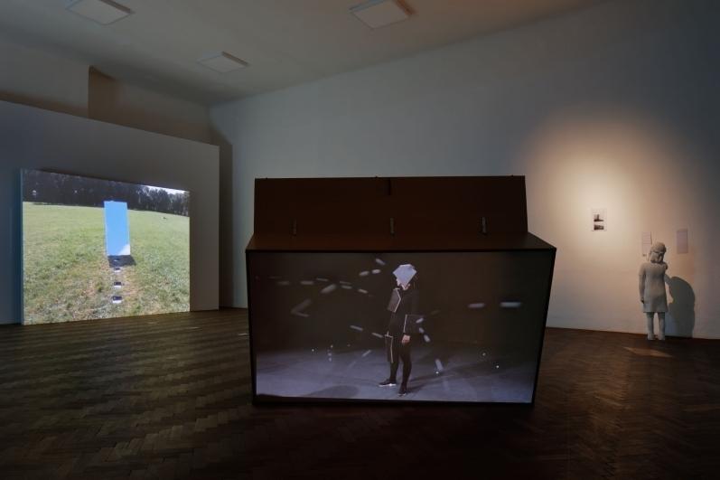 view to the exhibition Medium: Figure, Colloredo-Mansfeld Palace. Photo by Martin Polák