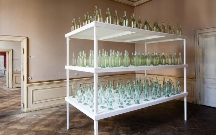view to the exhibition Adam Vačkář: First and Last Things, Colloredo-Mansfeld Palace, 2014. Photo by Tomáš Souček