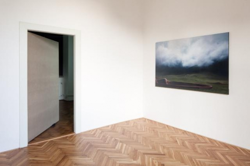 view to the exhibition Jakub Jansa: Engstligenalp, Coloredo-Mansfeld Palace, 2014. Photo by Tomáš Souček