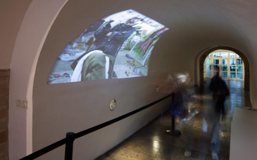 view to the exhibition of Kateřina Zochová, Golden Ring House, 2014. Photo by Tomáš Souček