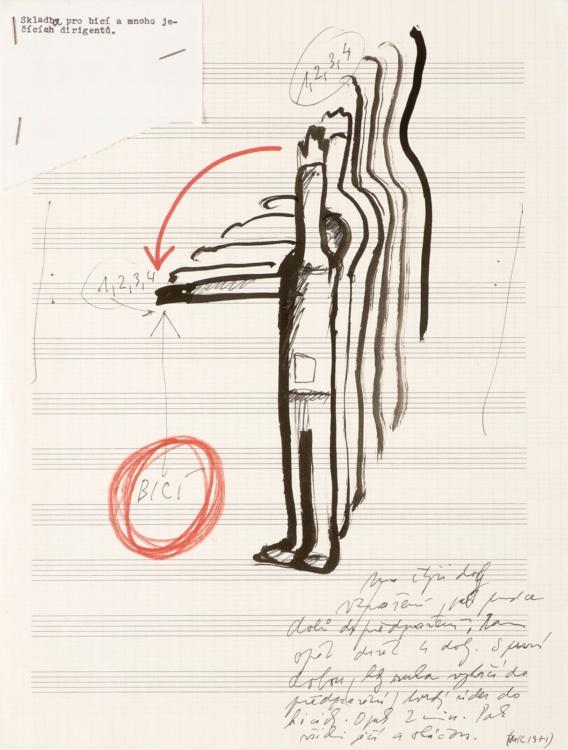 Milan Knížák, Actual Music (partitury), kolem 1965. Galerie hlavního města Prahy