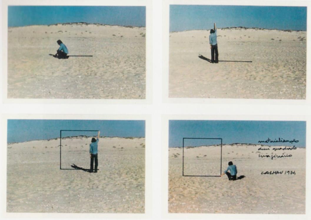 Fernando Calhau, #99 (Materializace imaginárního čtverce), 1974. Zdroj: 1960-1980. Anos de Normalização Artística na Colecções do Museu do Chiado, 2003