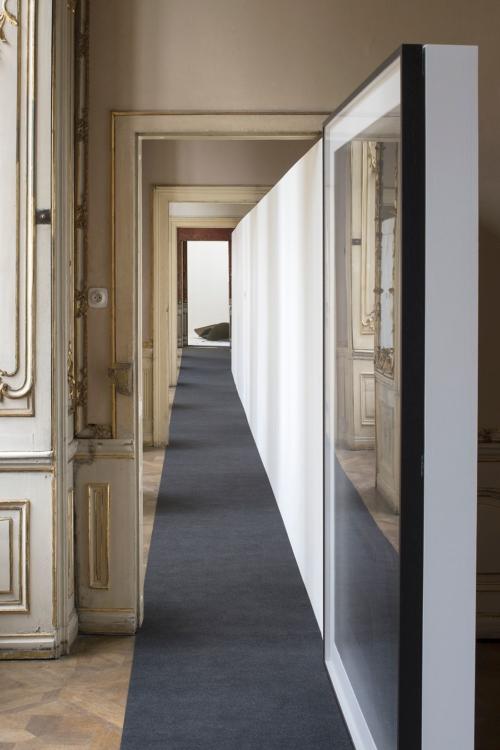 view to the exhibition Lukáš Machalický: Eclecticism Hour, Colloredo-Mansfeld Palace, piano nobile, 2019. Photo by Tomáš Souček