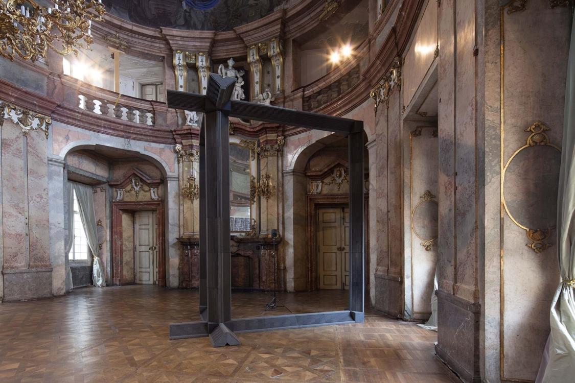 view to the exhibition Roman Štětina: Foreword, Colloredo-Mansfeld Palace, piano nobile, 2018. Photo by Jiří Thýn