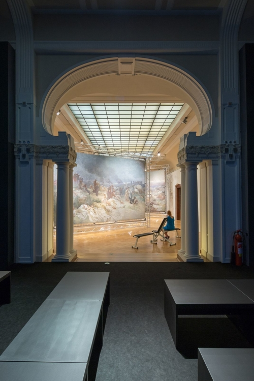 view to the exhibition of Alfons Mucha: The Slav epic, The Municipal House, 2018. Photo by Tomáš Souček