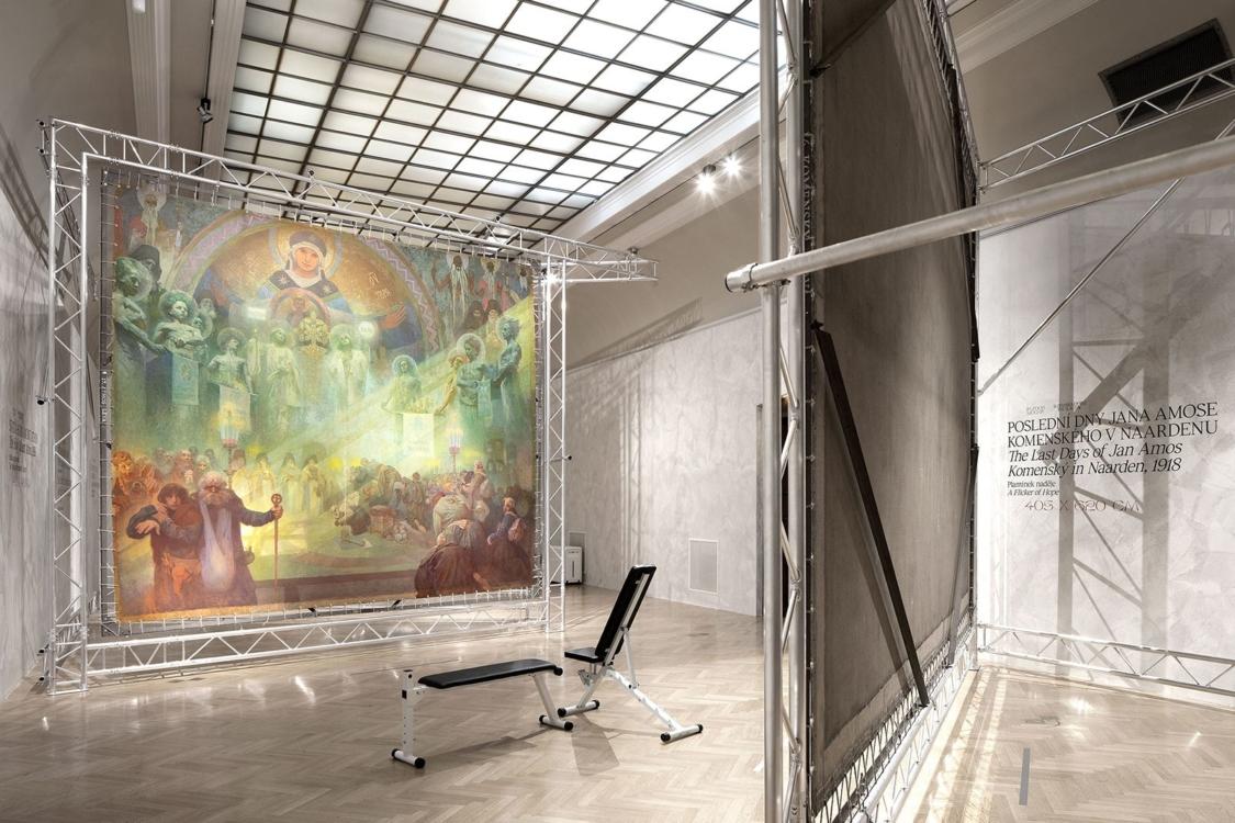 pohled do výstavy Alfons Mucha: Slovanská epopej, Obecní dům, 2018. Foto Tomáš Souček