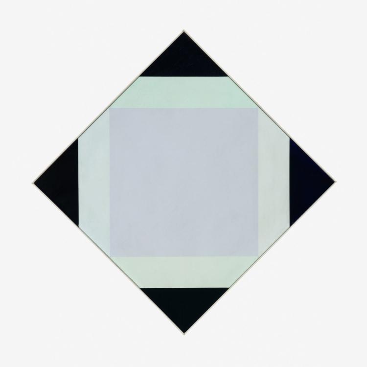 Max Bill, Světlé jádro, 1972/1973, olej na plátně, 62×62 cm, sbírka Grauwinkel