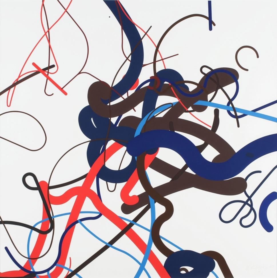 Zdeněk Sýkora, Third Phase, 1997, serigraphy, 70×70 cm