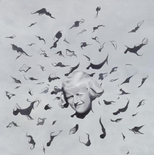 Petr Nikl, Bow, 2011, oil on cavas, 200×200 cm