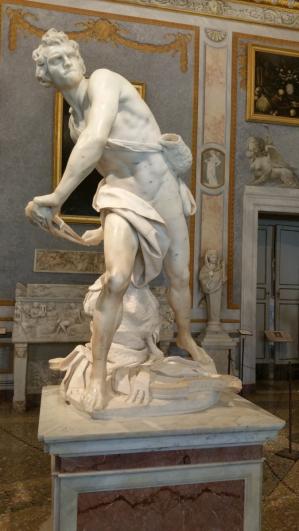Gian Lorenzo Bernini, David, 1623–1624, mramor, Galerie Borghese