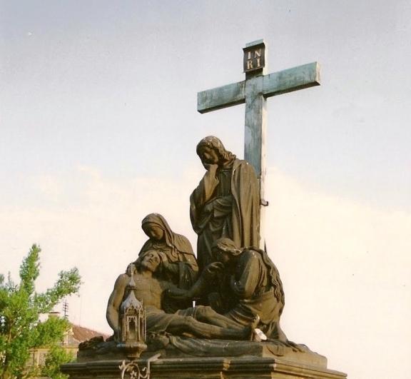 Emanuel Max: sousoší Piety, Karlův most, Praha