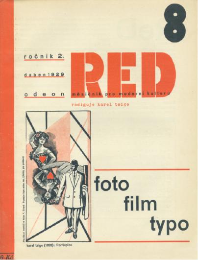 RED II, č. 8, duben 1929 věnovaný fotografii, filmu a typografii, obálka Karel Teige, soukromá sbírka