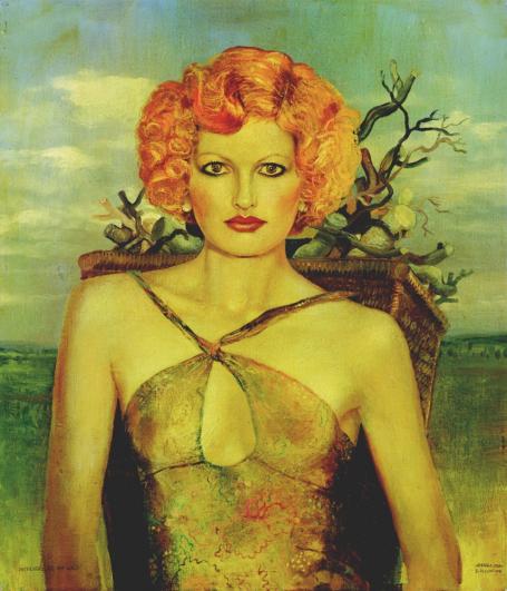 Cestou z lesa (cyklus La Comédie humaine), 1976, olej, plátno, 75×65cm, soukromý majitel, foto Hana Hamplová