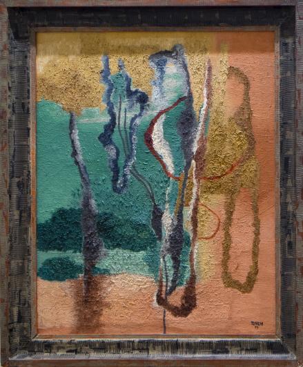 Toyen, V parku, 1929, olej na plátně, GHMP
