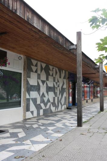 Zdeněk Sýkora, Mosaic, 1977, marble, Studentská, Litvínov