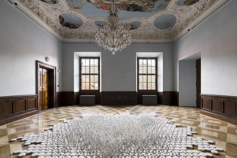 object of Jan Kovářík, exhibition Colorbond, Troja Château 2020