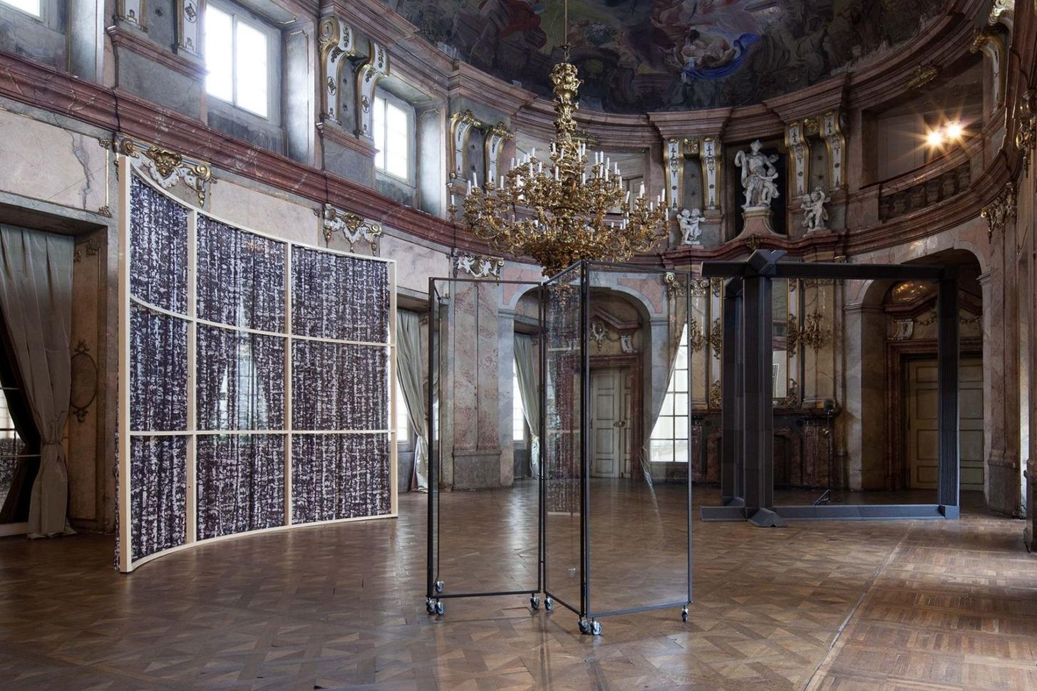 view to the exhibition Roman Štětina: Foreword, Colloredo-Mansfeld Palace, 2018. Photo by Tomáš Souček