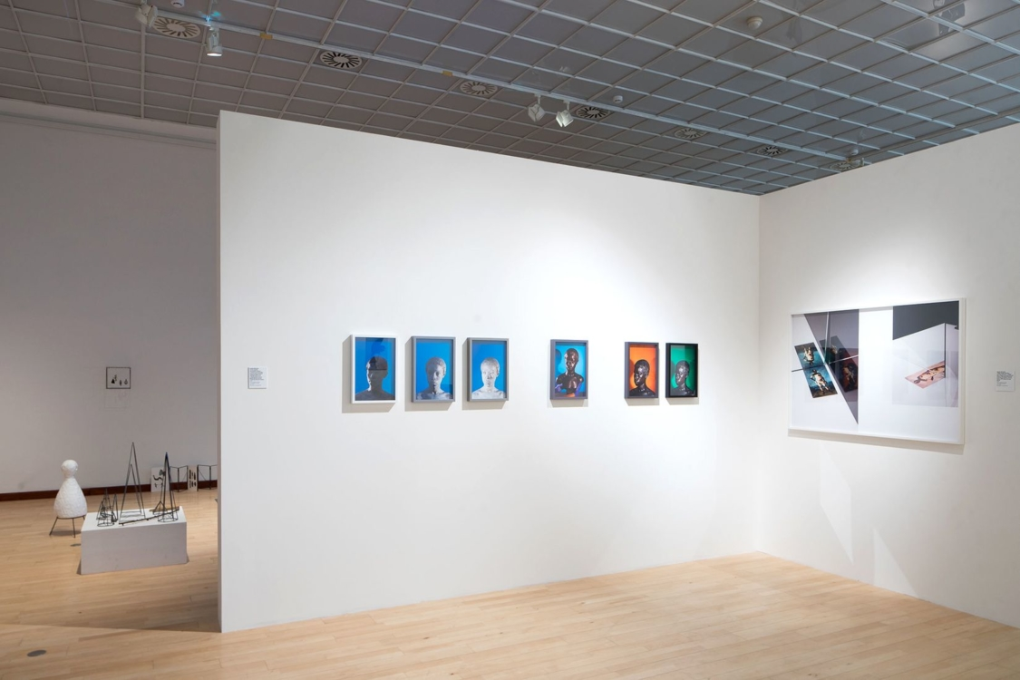 view to the exhibition New Acquisitions from the Collections of Prague City Gallery, Municipal Library of Prague, 2nd floor, 2018. Photo by Tomáš Souček