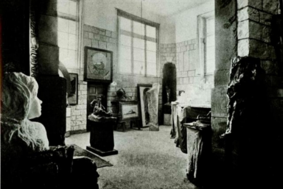 interiér Bílkovy vily, dobové foto