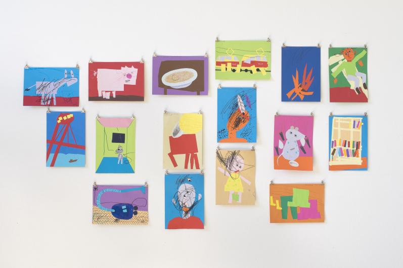z výstavy Pojď blíž v rámci Bienále Ve věci umění / Matter of Art, Městská knihovna, 2. patro, 2020. Foto Tomáš Souček