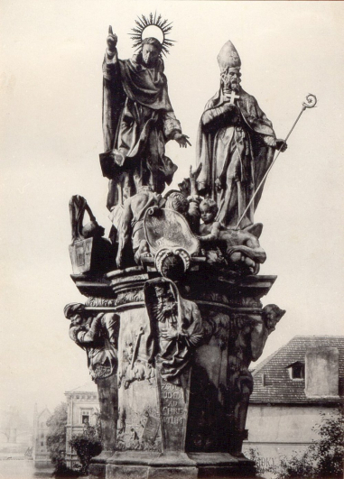 Ferdinand Maxmilian Brokoff, Sousoší Sv. Vincence Ferrerského a Sv. Prokopa, 1712, Karlův most Praha