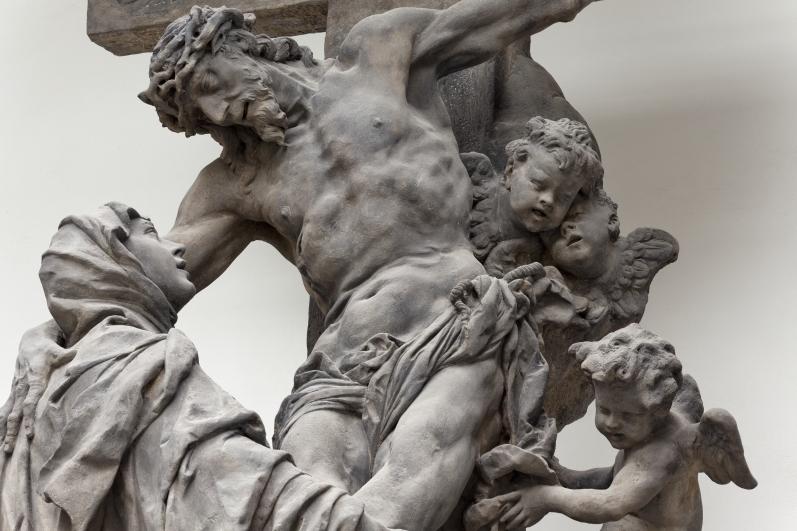 Matyáš Bernard Braun, Vidění sv. Luitgardy – detail. Lapidárium Národního muzea