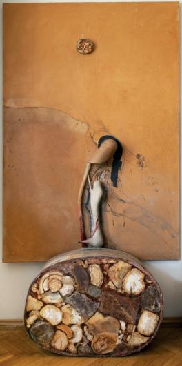 Bedřich Dlouhý, Cestou z lesa (cyklus La Comédie humaine), 1976, olej, plátno, 75 × 65cm, soukromý majitel, snímek Hana Hamplová