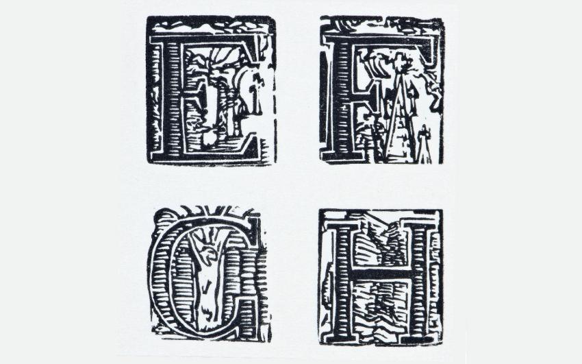 František Bílek, Abeceda, datace neurčena, dřevoryt