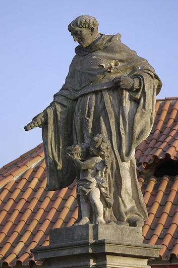 Jeroným Kohl, socha sv. Mikuláše Tolentinského, 1708, Karlův most