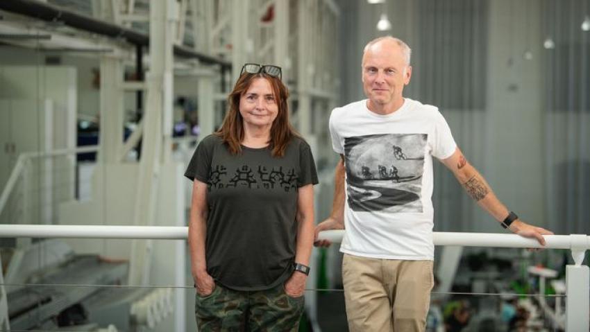 Magdalena Juříková a moderátor podcastu Na dotek Petr Vizina. Foto Lukáš Oujeský