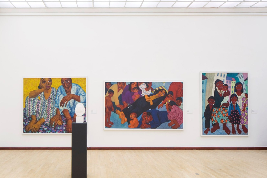 pohled do výstavy Bienále Ve věci umění / Matter of Art 2020, Městská knihovna, 2. patro, 2020. Foto Tomáš Souček