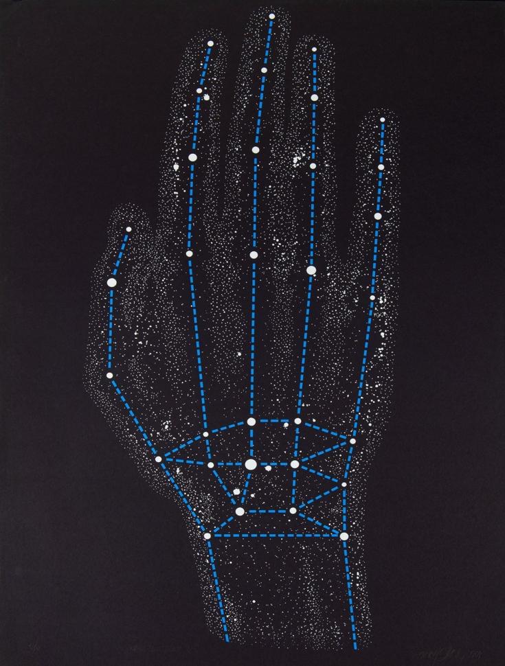 Rudolf Sikora, Constellation of the Hand IV., 1984