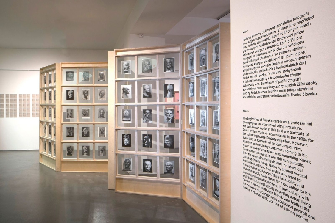 view to Lovelies from the Files. Sudek and Sculpture exhibition, House of Photography, 2020. Photo by Tomáš Souček