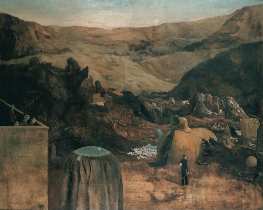 Mikuláš Rachlík, Smetiště, 1964, olej na plátně, 100×80 cm