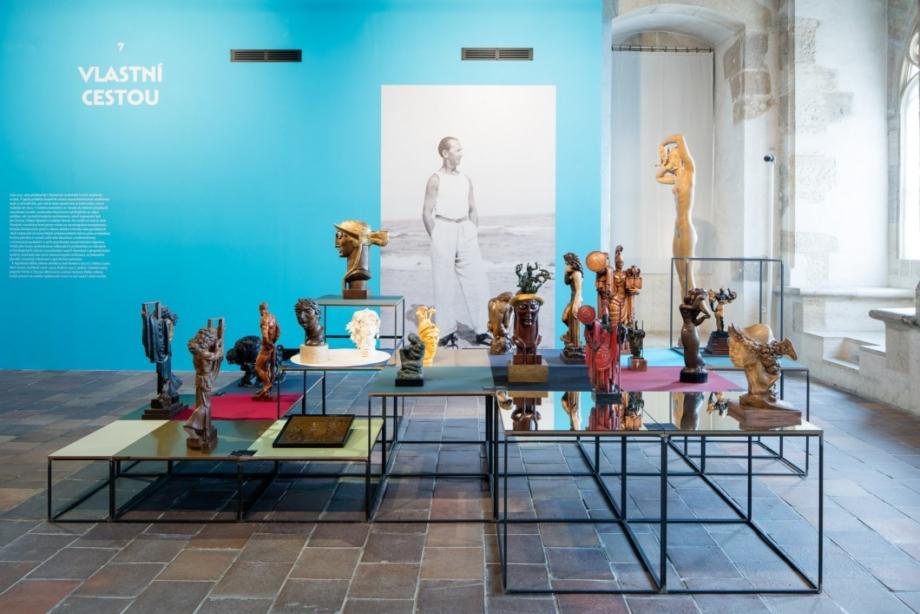pohled do výstavy Jaroslav Horejc (1886–1983): Mistr českého art deca, Dům U Kamenného zvonu, 2016. Foto Tomáš Souček